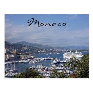 monaco cruise postcard