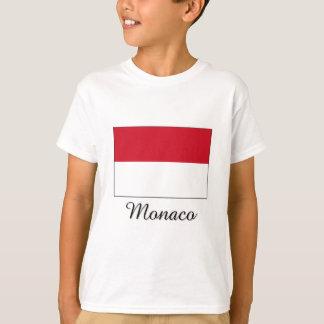 Monaco Flag Design T-Shirt