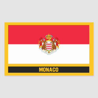 Monaco Flag Rectangular Sticker