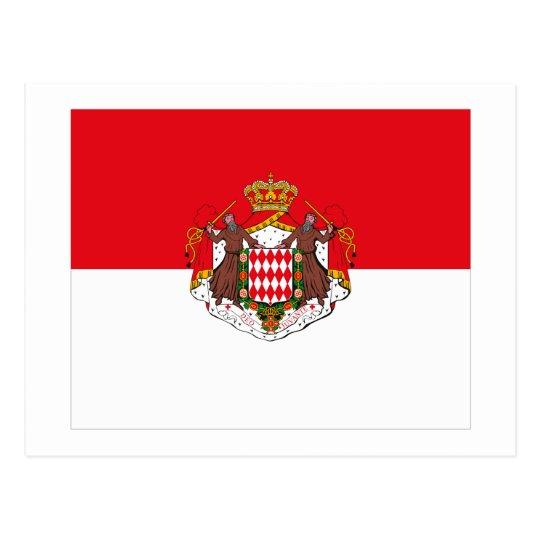 Monaco Flag w COA Postcard