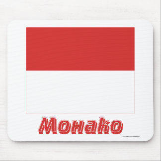 Monaco Flag with name in Russian Mouse Mat