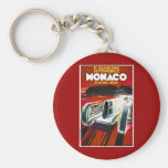 Monaco Grand Prix 1930 Basic Round Button Key Ring