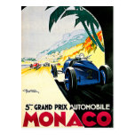 Monaco Grand Prix Car Race Travel Art