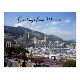 monaco greetings postcard