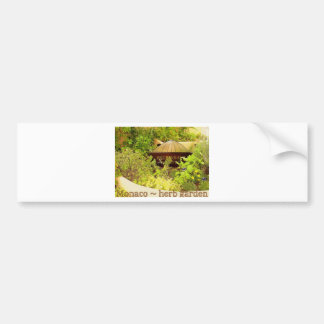 Monaco - herb garden car bumper sticker