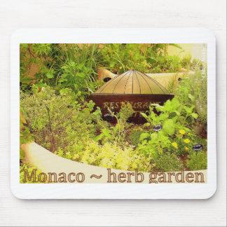Monaco - herb garden mouse mat