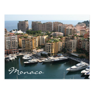 monaco high living postcard