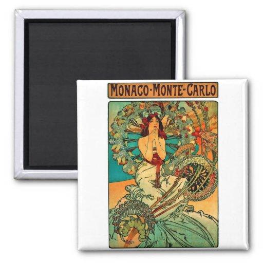 Monaco Monte Carlo Art Nouveau Refrigerator Magnet