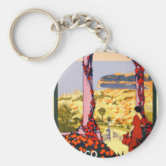 Monaco. Monte-Carlo. Au pays du soleil Basic Round Button Key Ring