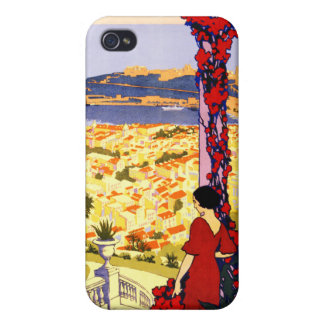 Monaco Monte Carlo France Vintage Travel Poster iPhone 4/4S Covers