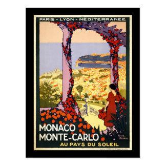 Monaco Monte Carlo Postcard