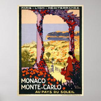 Monaco Monte Carlo Poster