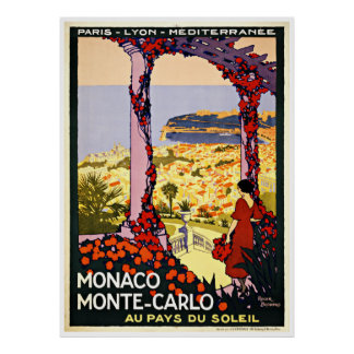 Monaco Monte Carlo - Vintage Travel Posters