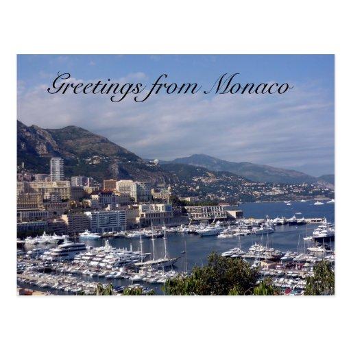 monaco port greetings postcards