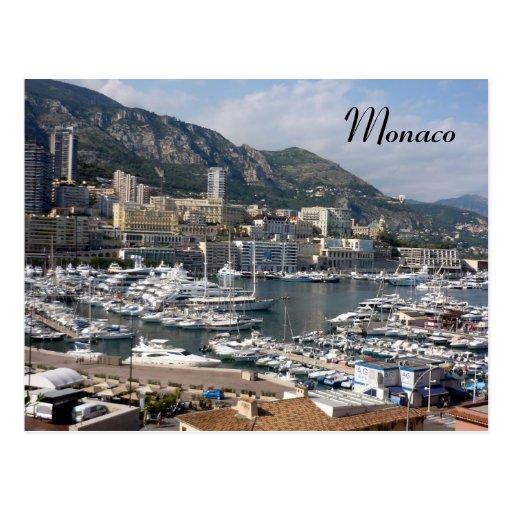 monaco port postcard