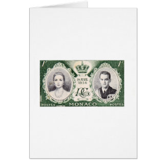 Monaco Royalty Postage Stamp Card