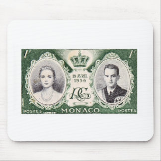 Monaco Royalty Postage Stamp Mousepad
