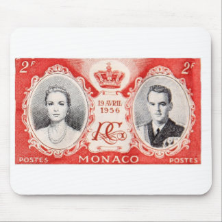 Monaco Royalty Postage Stamp Mousepad