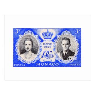 Monaco Royalty Postage Stamp Postcard