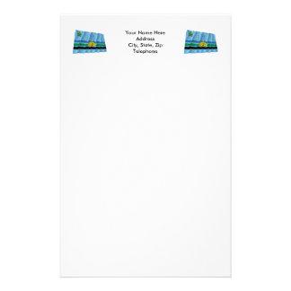 Monagas Waving Flag Personalized Stationery