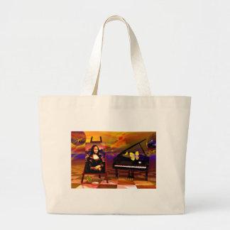 Monalisa  Smile Surreal Canvas Bag
