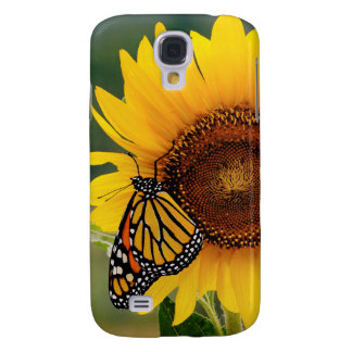 Monarch Butterfies on Sunflower Galaxy S4 Case