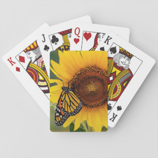 Monarch Butterfies on Sunflower Playing Cards