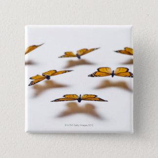 Monarch Butterflies 15 Cm Square Badge