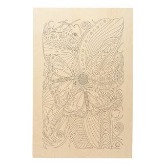 Monarch Butterflies in Symmetry Wood Print