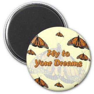 Monarch Butterflies Fridge Magnets