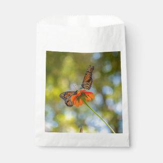 Monarch Butterflies on Wildflowers Favour Bags