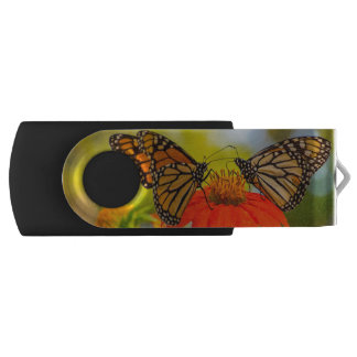 Monarch Butterflies on Wildflowers USB Flash Drive