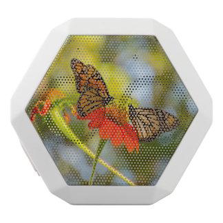 Monarch Butterflies on Wildflowers White Bluetooth Speaker