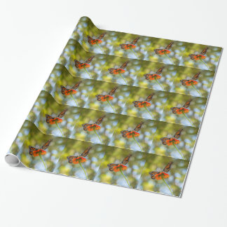 Monarch Butterflies on Wildflowers Wrapping Paper