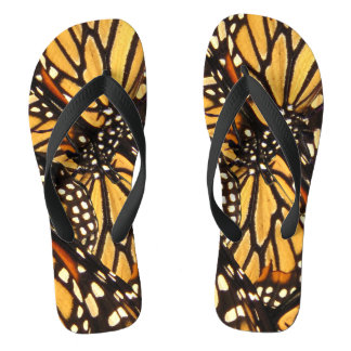 Monarch Butterfly Abstract Flip Flops