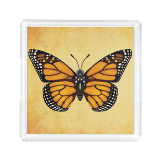 Monarch Butterfly Acrylic Tray