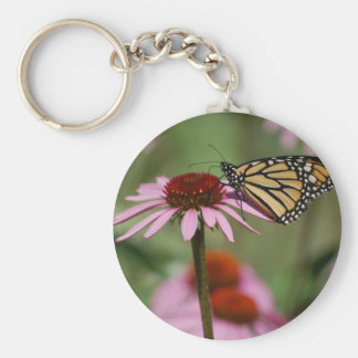Monarch Butterfly and Black Eyed Susan Basic Round Button Key Ring
