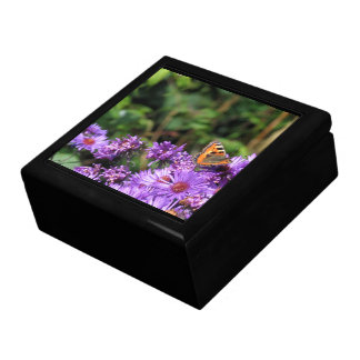Monarch butterfly and purple flowers gift box