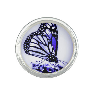 Monarch Butterfly, Blue -