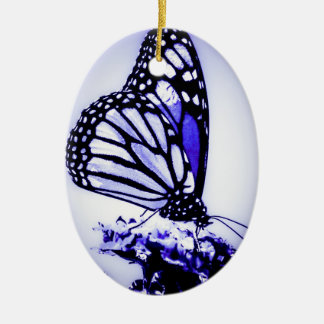 Monarch Butterfly, Blue - Christmas Ornament