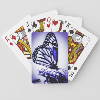 Monarch Butterfly, Blue Playing Cards