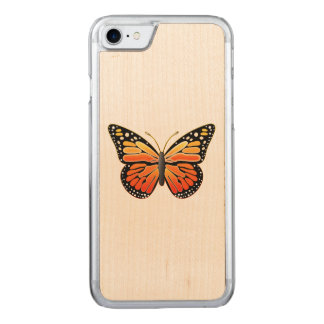 Monarch Butterfly Carved iPhone 7 Case