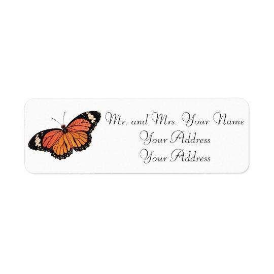 Monarch Butterfly Custom Avery Address Labels