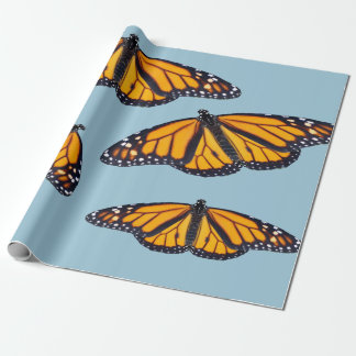 Monarch butterfly design wrapping paper