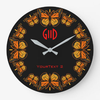 Monarch Butterfly Dial on a Large Clock