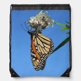 Monarch Butterfly Drawstring Bag