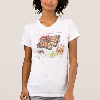Monarch Butterfly feeding on Zinnia Flower Shirt