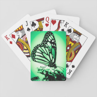 Monarch Butterfly, Green Playing Cards