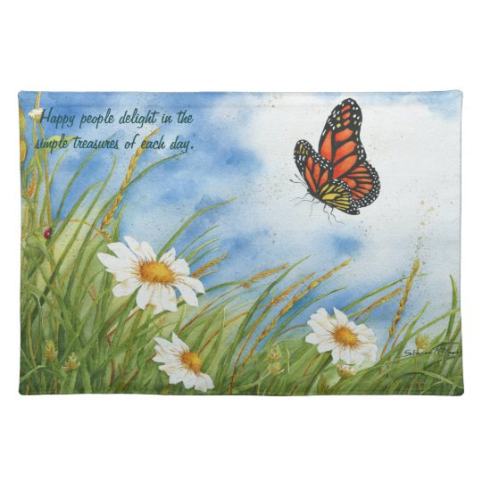 Monarch Butterfly - Happy People Placemat