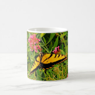 Monarch Butterfly In Pink Coffee Cup